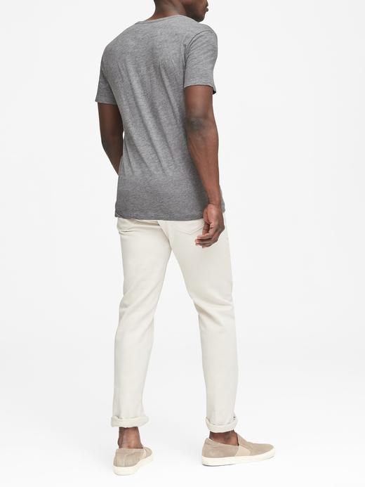 Erkek gri Logolu Sıfır Yaka Soft-Wash T-Shirt
