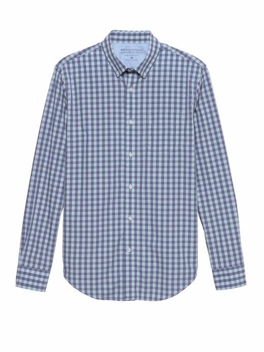 Grant Slim-Fit Luxe Poplin Ekose Gömlek