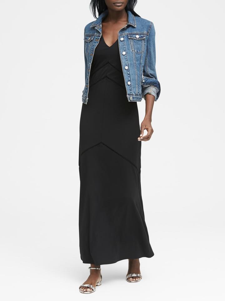 Kadın siyah Yumuşak Ponte Maxi Elbise