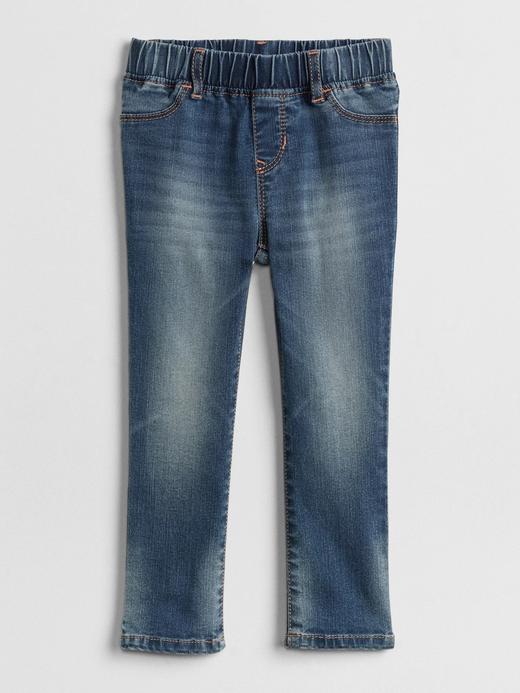 Hafif kumaşlı jean tayt pantolon