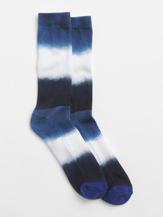 mavi Desenli çorap