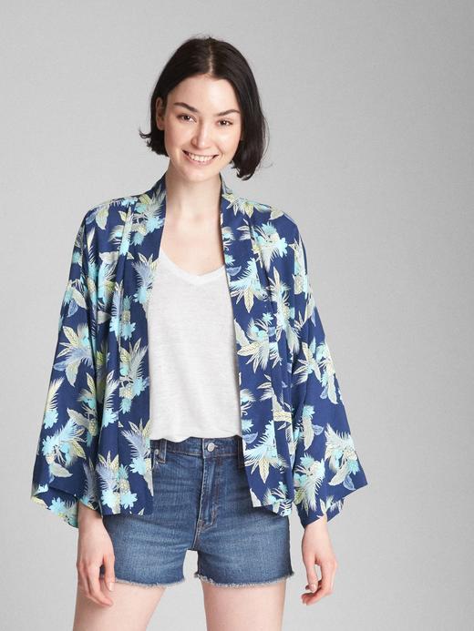 Açık önlü desenli gömlek ceket