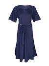 Kadın lacivert Kuşaklı Yarım Kollu Elbise