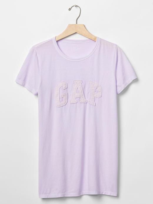 eflatun Gap Logolu bisiklet yaka t-shirt