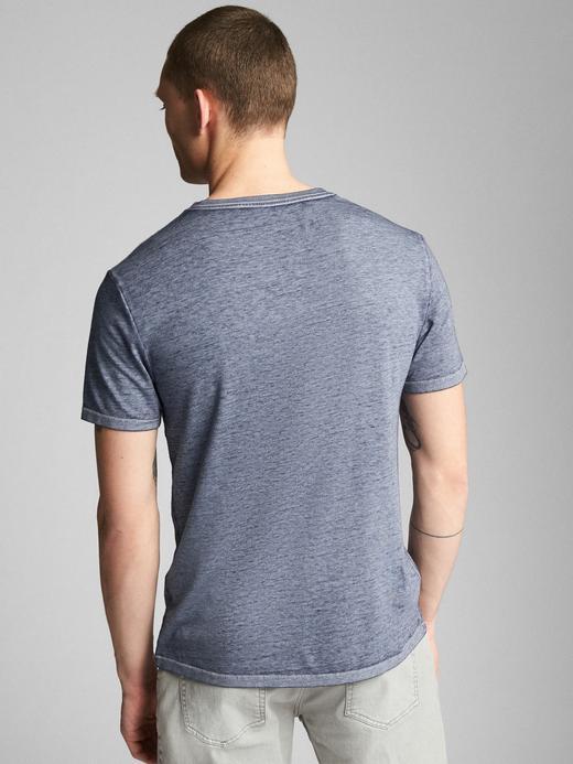 lacivert Kısa Kollu V Yaka T-Shirt
