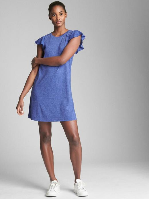 Softspun Fırfır Kollu Elbise