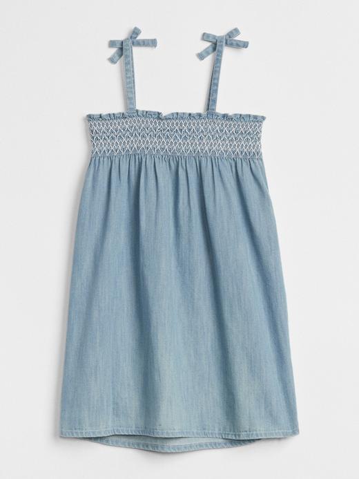 Askılı Denim Elbise