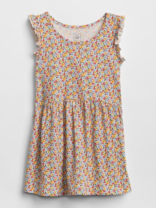 Desenli Fırfırlı Elbise