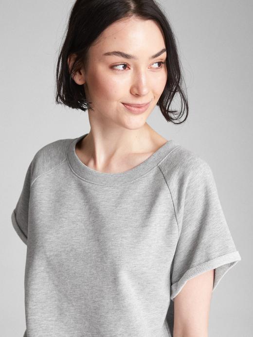 Kısa Kollu Havlu Kumaşı Sweatshirt