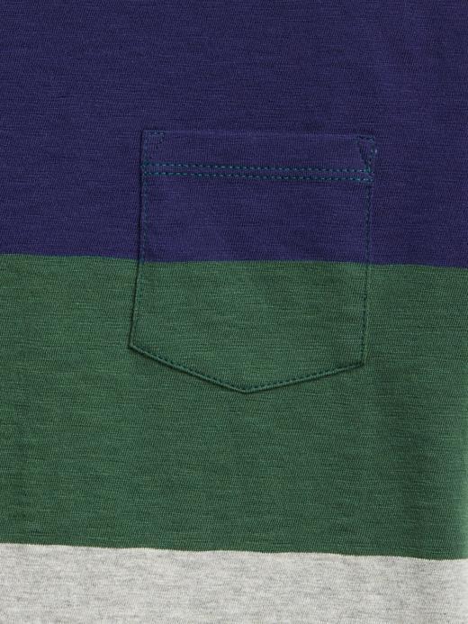 Çizgi Desenli Kısa Kollu T-Shirt
