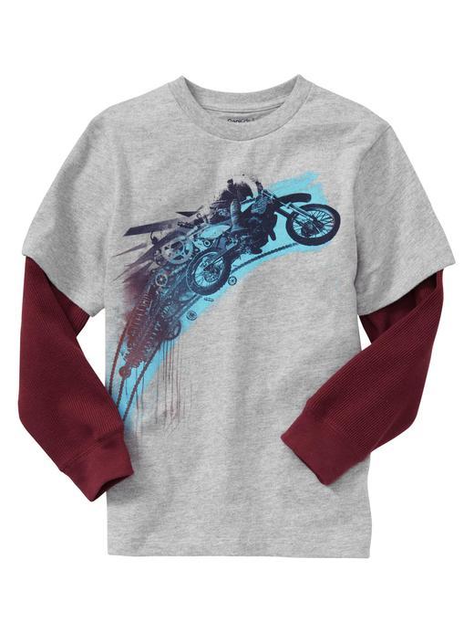 Basklı Uzun Kollu T-shirt