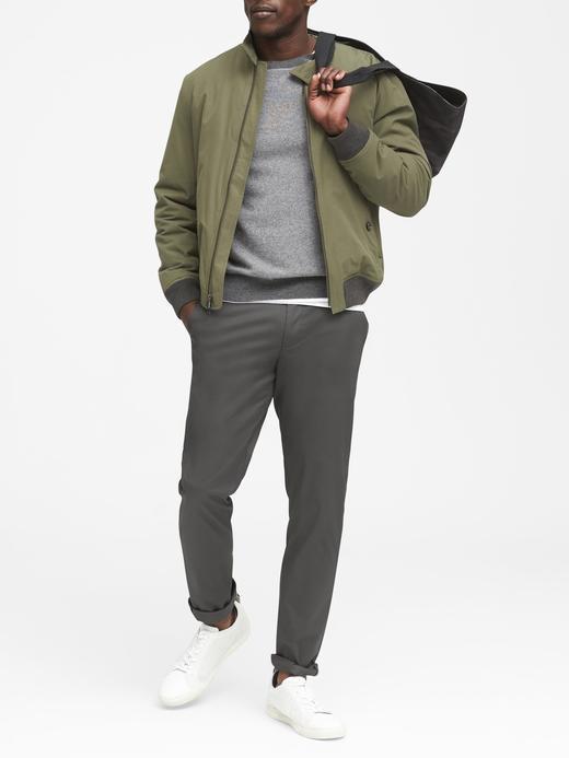 Erkek Bej Aiden Slim Core Temp Pantolon