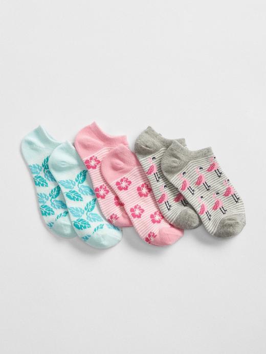 3'lü Paket Desenli Çorap