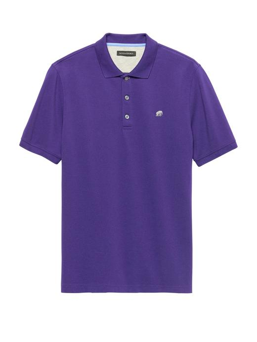 Solid Pique Polo T-Shirt