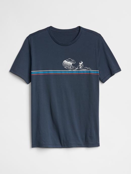 Erkek lacivert Kısa Kollu Baskılı T-Shirt