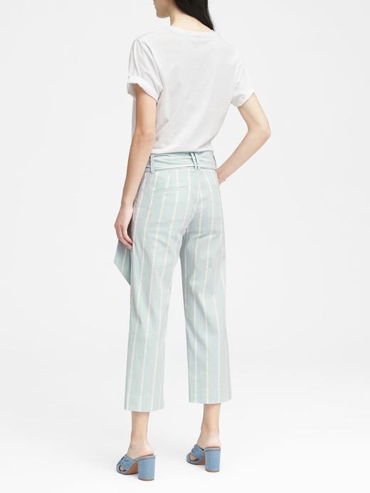 Logan Trouser-Fit Keten ve Pamuk Karışımlı Pantolon