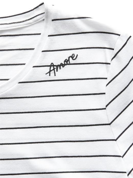 Supima® Pamuklu İşlemeli T-Shirt