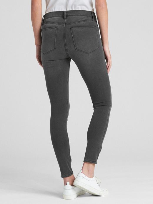 Kadın Siyah Orta Belli Favorite Jegging  Pantolon