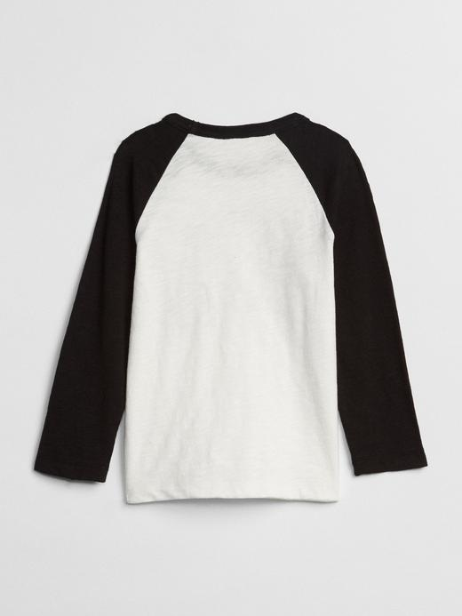 Bebek Siyah Baskılı Reglan T-Shirt