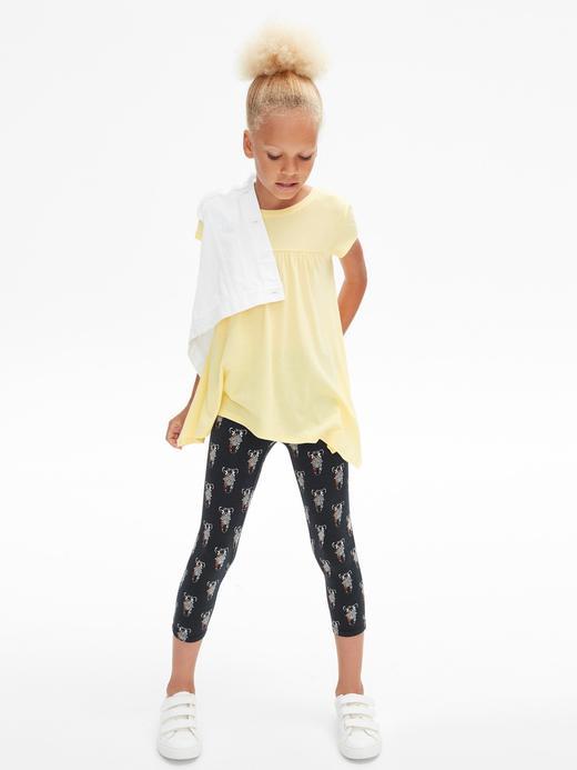 Kız Çocuk açık sarı Kısa Kollu T-Shirt