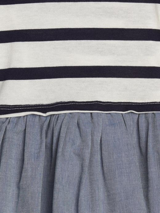 Çizgili Saf Pamuklu Elbise