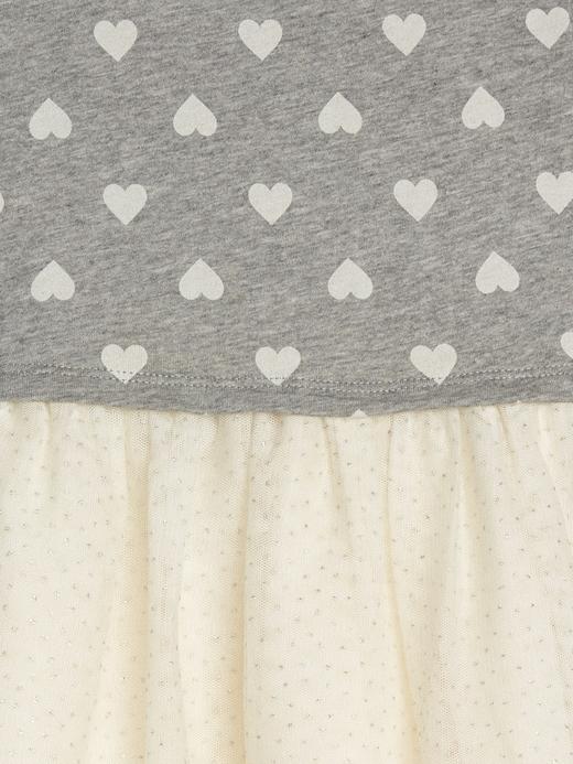 Kalp Desenli Uzun Kollu Elbise