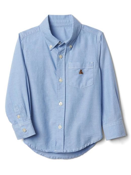 Bebek mavi Oxford düğmeli gömlek