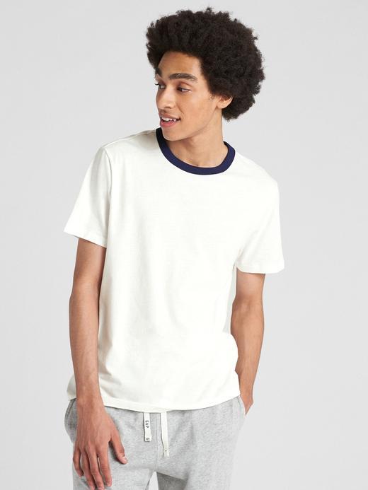 Kısa Kollu Sıfır Yaka T-Shirt