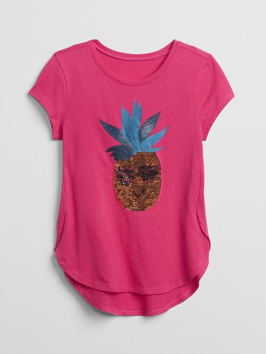 Pullu baskılı kısa kollu t-shirt