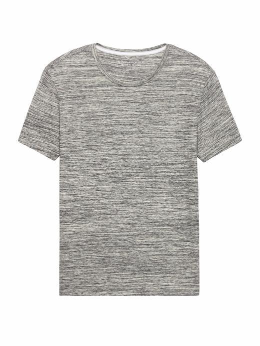Soft Wash Sıfır Yaka T-Shirt