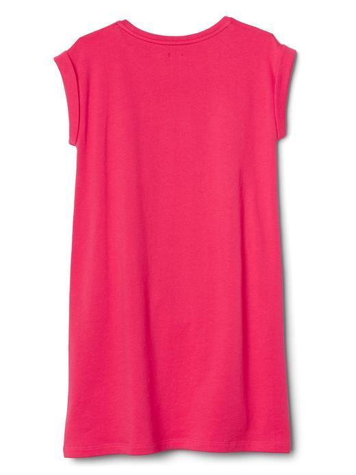 Logolu kısa kollu elbise