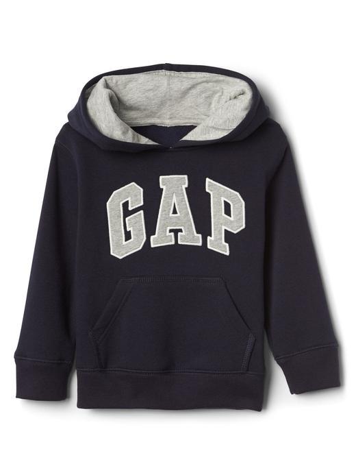 Bebek mavi Logolu kapüşonlu sweatshirt