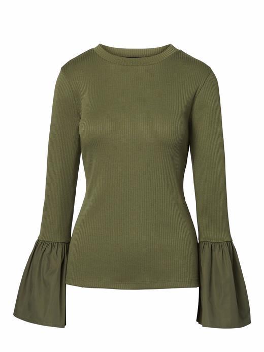 Kadın yeşil Uzun Kollu Üst