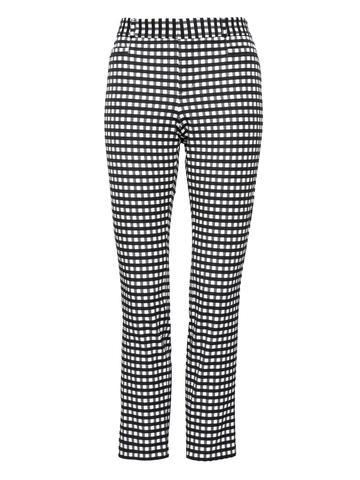 Kadın Siyah ve Beyaz Sloan Skinny Fİt Ekose Pantolon