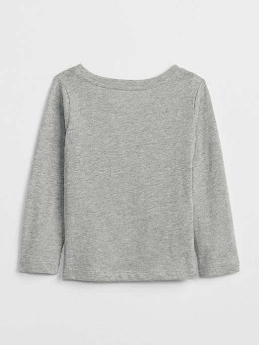 Işıltılı Baskılı Uzun Kollu T-Shirt