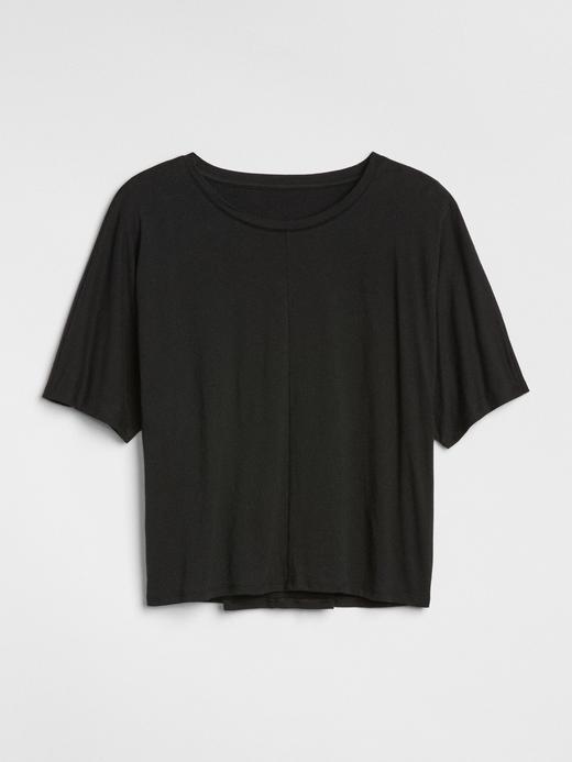 Kısa Kollu Arkası Detaylı T-Shirt