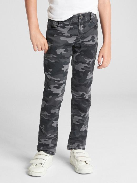 Kamuflaj Desenli Slim Jean Pantolon