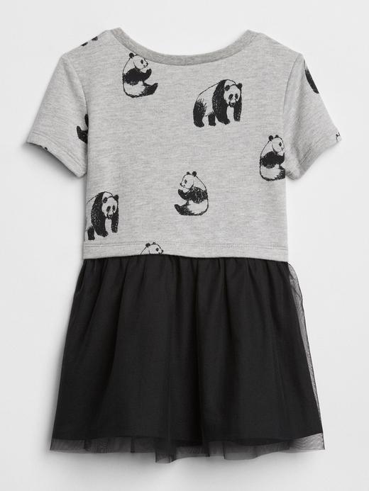 Panda Desenli Elbise