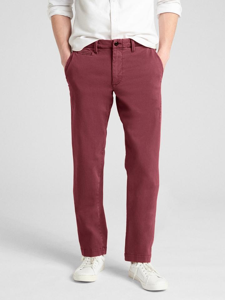 d99d15d8e5f25 Vintage Yıkamalı Slim Fit Khaki Pantolon