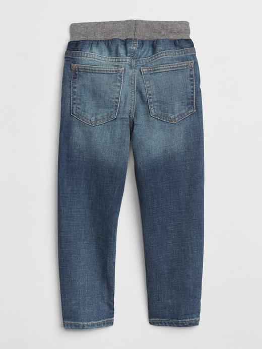 Bebek orta yıkama Streç Slim Fit Jean Pantolon