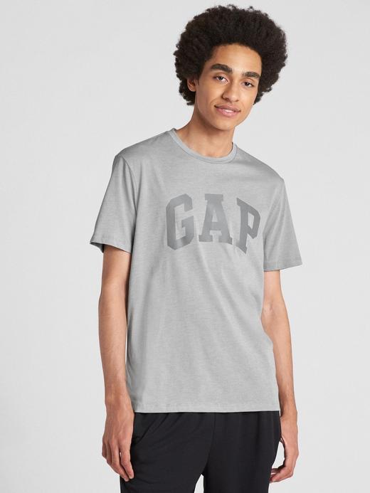 GapFit Logo Sıfır Yaka T-Shirt