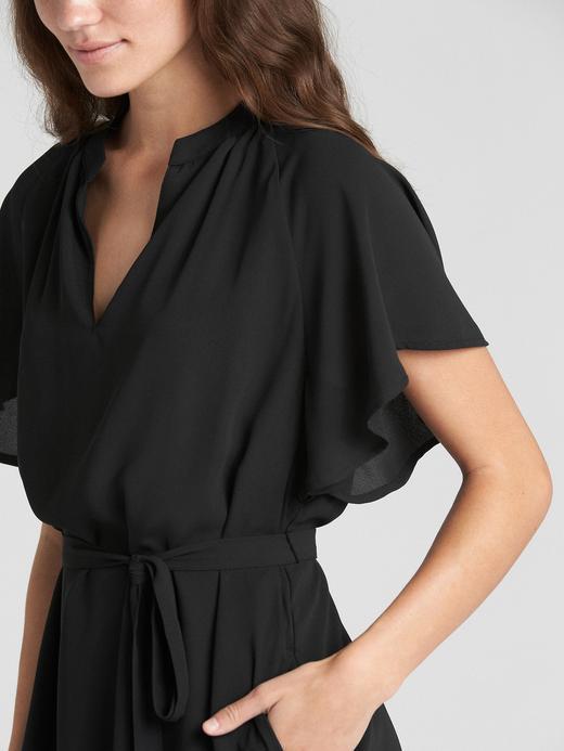 Kısa Kollu Kuşaklı Elbise