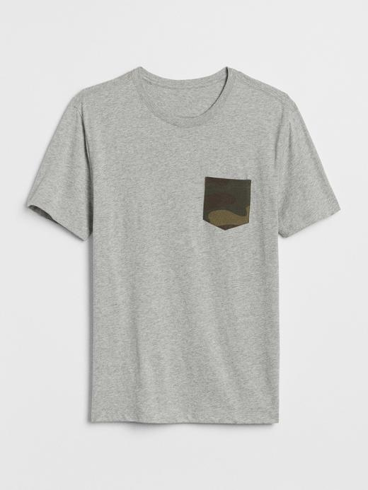 Cepli Kısa Kollu T-Shirt
