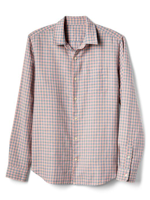 beyaz Standart fit keten pamuk karışımlı gömlek