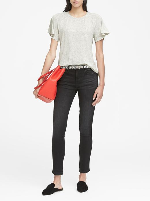 Kadın turuncu Kısa Kollu Yumuşak Dokulu Streç T-Shirt