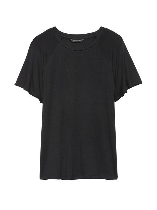 Kısa Kollu Yumuşak Dokulu Streç T-Shirt