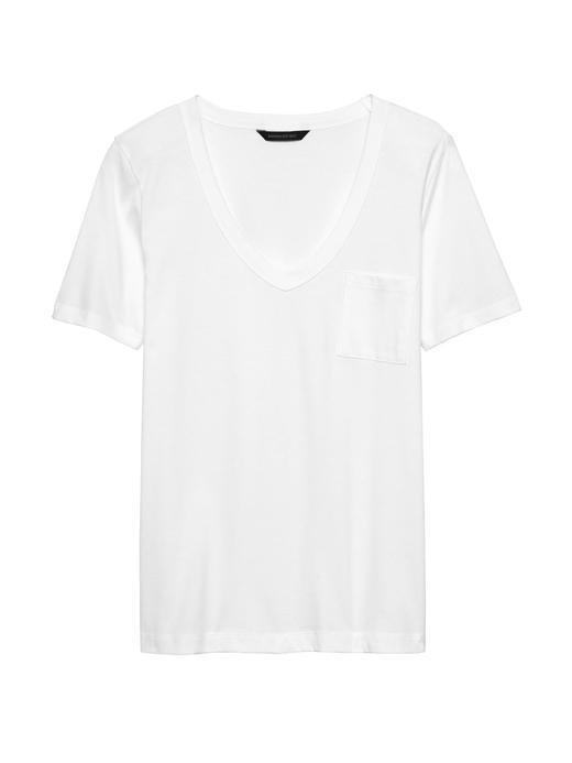 Supima® Pamuklu V Yaka T-Shirt