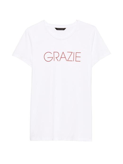 Supima® Pamuklu Baskılı Sıfır Yaka T-Shirt