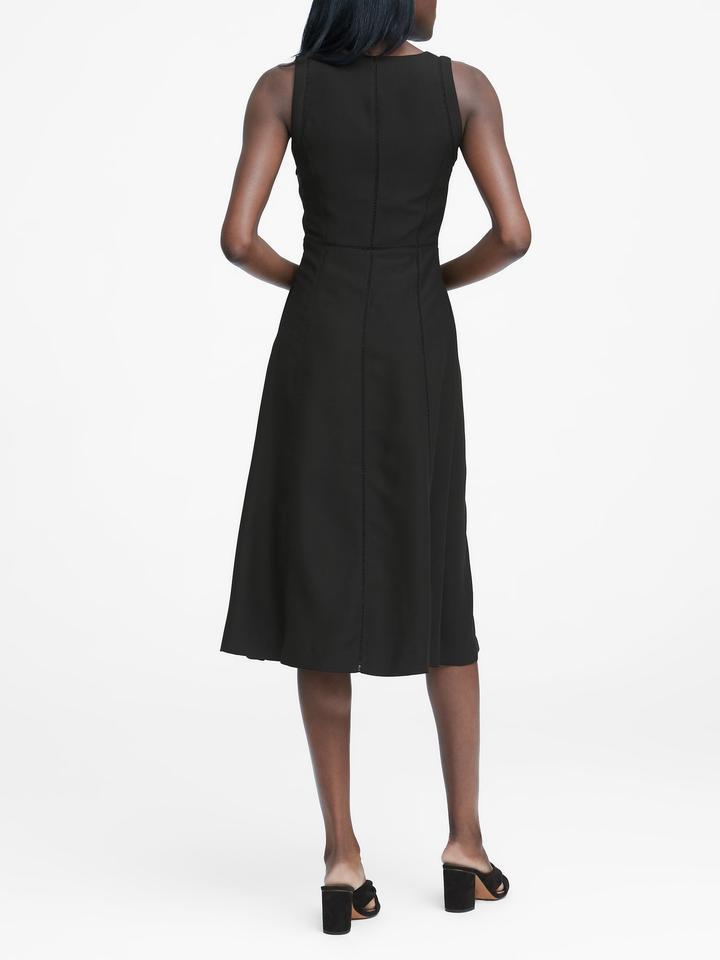 Dantel Detaylı Midi Elbise
