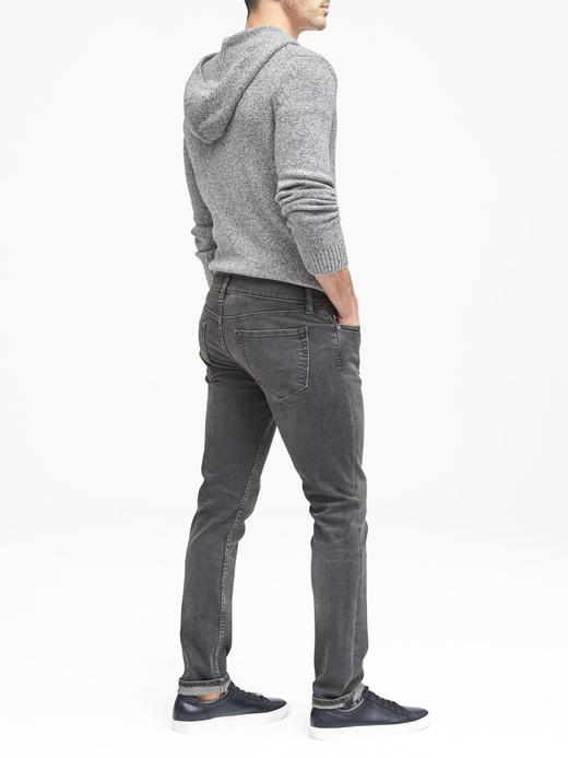 Erkek gri yıkamalı Gri Yıkamalı Skinny Jean Pantolon